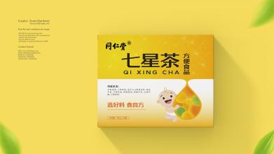 食良方儿童七星茶品牌LOGO设计