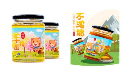 蜂蜜包装瓶贴亚博客服电话多少(枣花蜜、椴树...