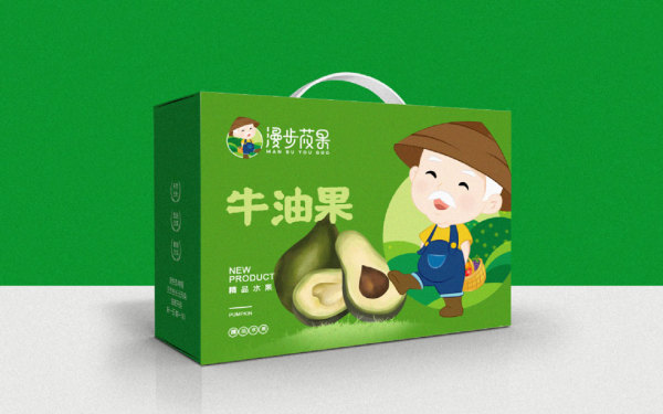 果蔬农场行业/漫步莜果/LOGO设计