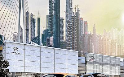 汽车城项目海报合成设计