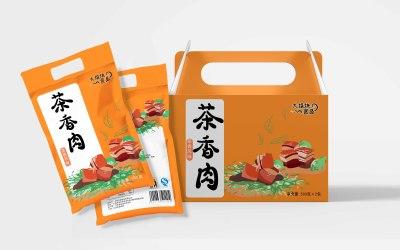 肉制品系列包装插画