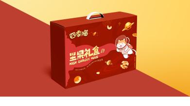 四季喵堅果禮盒品牌包裝設計