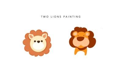 小狮子手绘