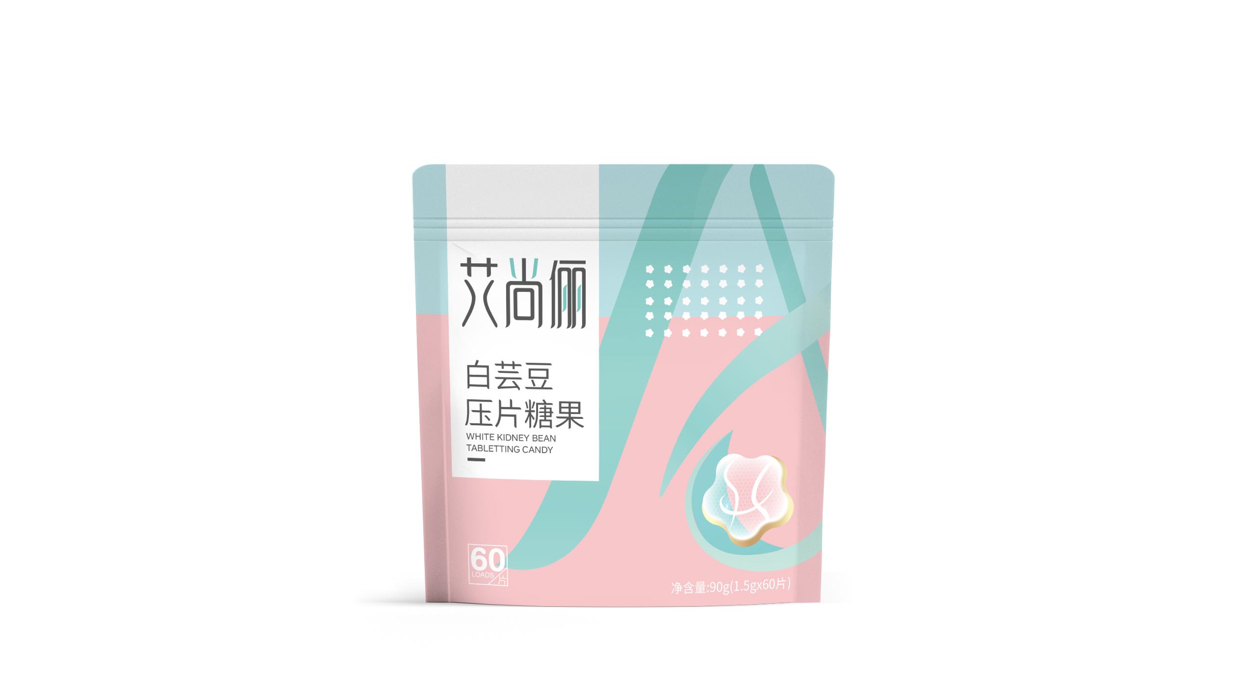 艾尚丽白芸豆压片糖果品牌包装设计
