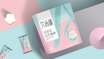 艾尚麗白蕓豆壓片糖果品牌包裝延展設計