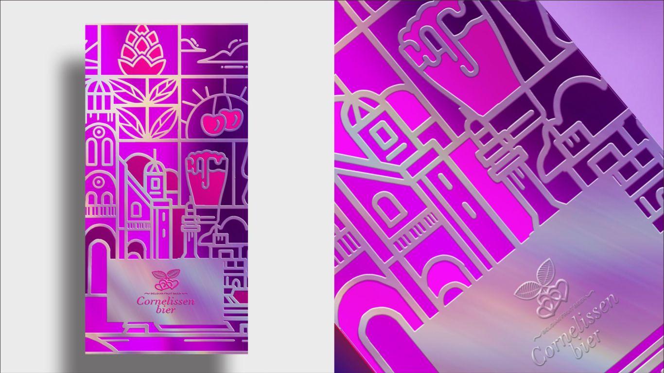 康尼森比利时进口啤酒礼盒包装设计中标图4