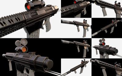 FPS射击游戏道具枪械外观设计...