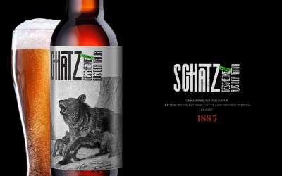 Schatz啤酒包裝酒類包裝設計