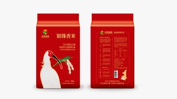 漢禾銀珠大米品牌包裝設計