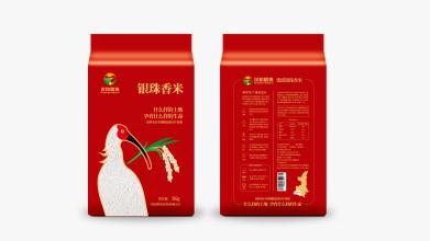 汉禾银珠大米品牌包装设计