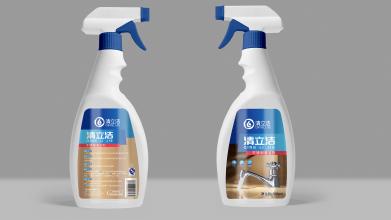 清立洁不锈钢清洁剂品牌包装设计
