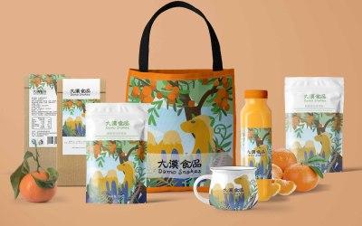 零食系列产品插画包装及周边设计