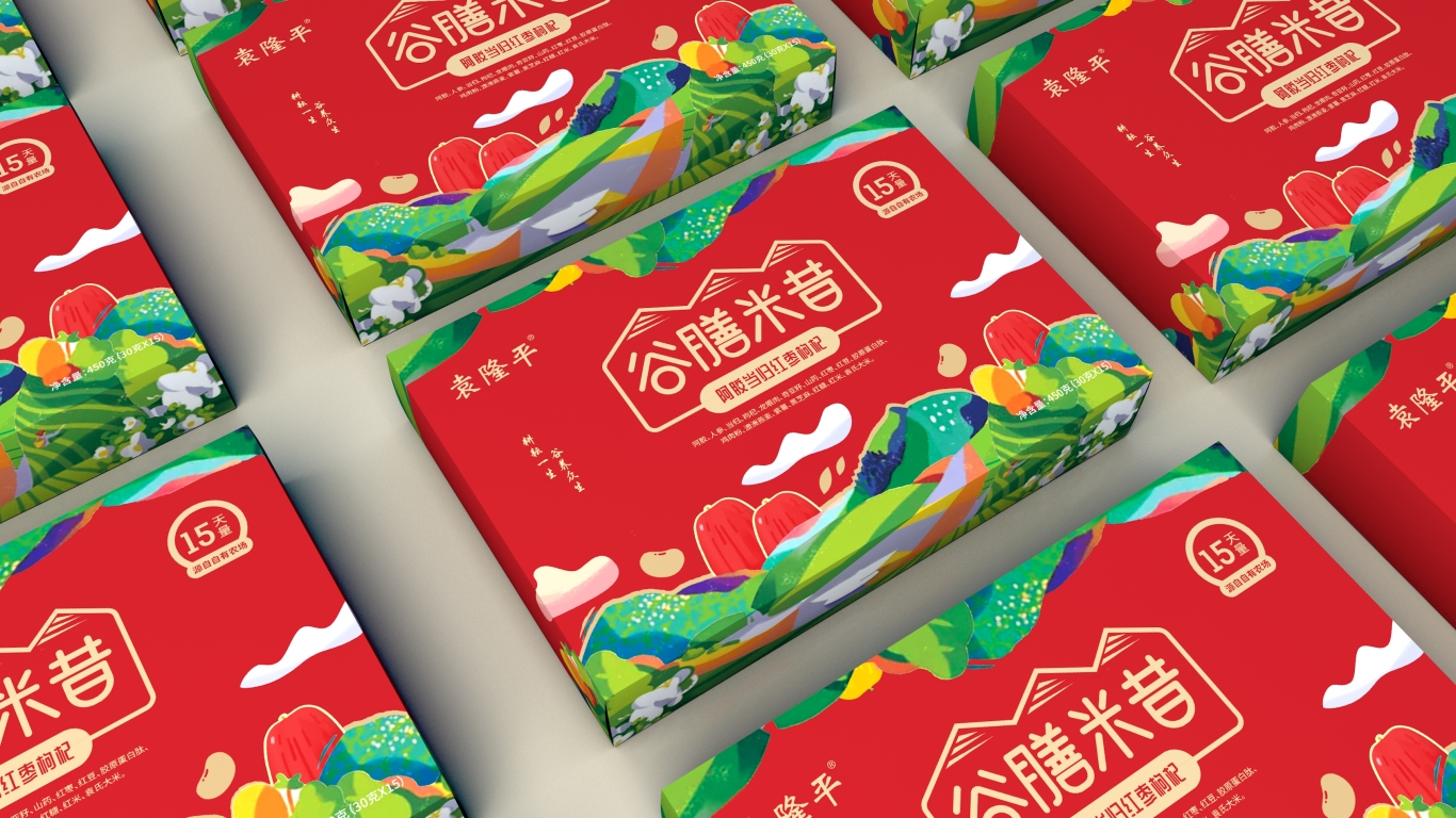 袁隆平谷膳米昔品牌包装设计中标图5