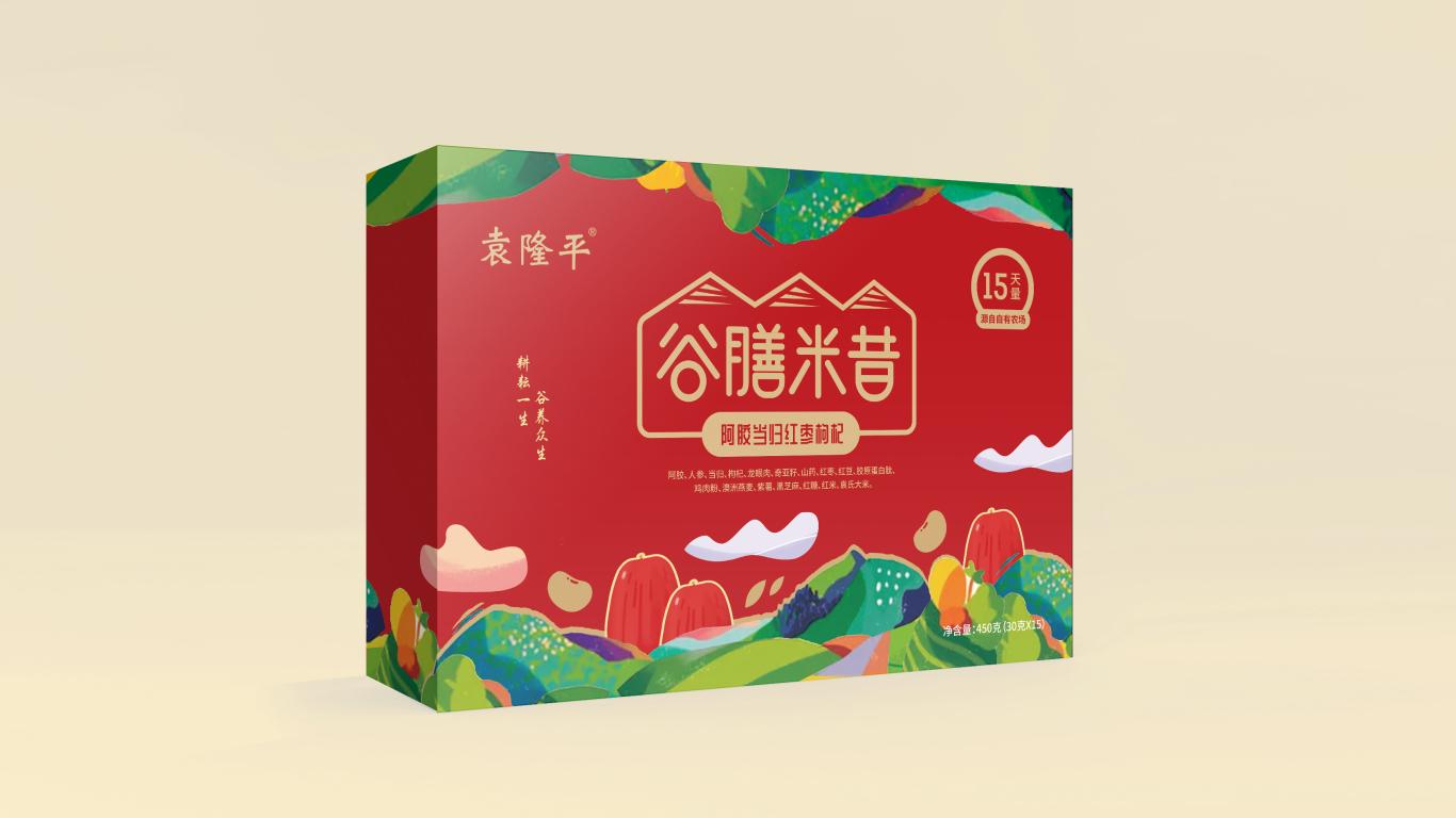 袁隆平谷膳米昔品牌包装设计中标图3