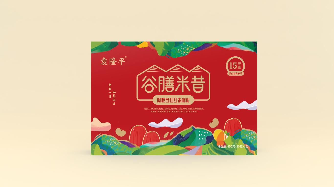 袁隆平谷膳米昔品牌包装设计中标图1