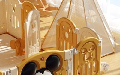 迪士尼儿童产品C4D展示