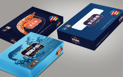 万大元海产新年礼盒及系列包装