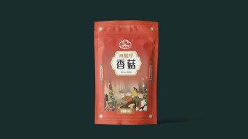 四旗厅菌菇品牌包装延展设计