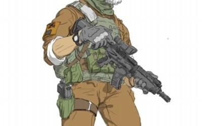 自己手稿画军人漫画