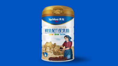 央牧骆驼奶粉包装设计系列延展