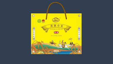 四旗厅黄旗小米包装设计