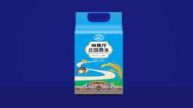 四旗厅北国香米包装设计