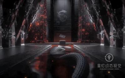 微星msi笔记本3D动画广告片