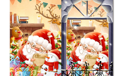 圣诞节系列插画