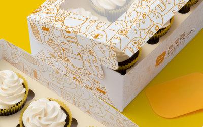 糕點外賣盒包裝設計