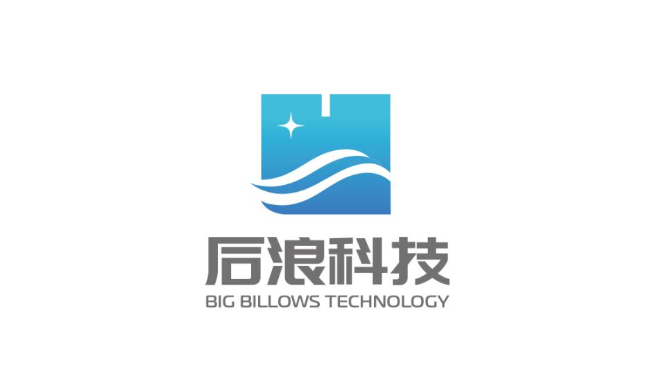 后浪科技電商平臺LOGO設計