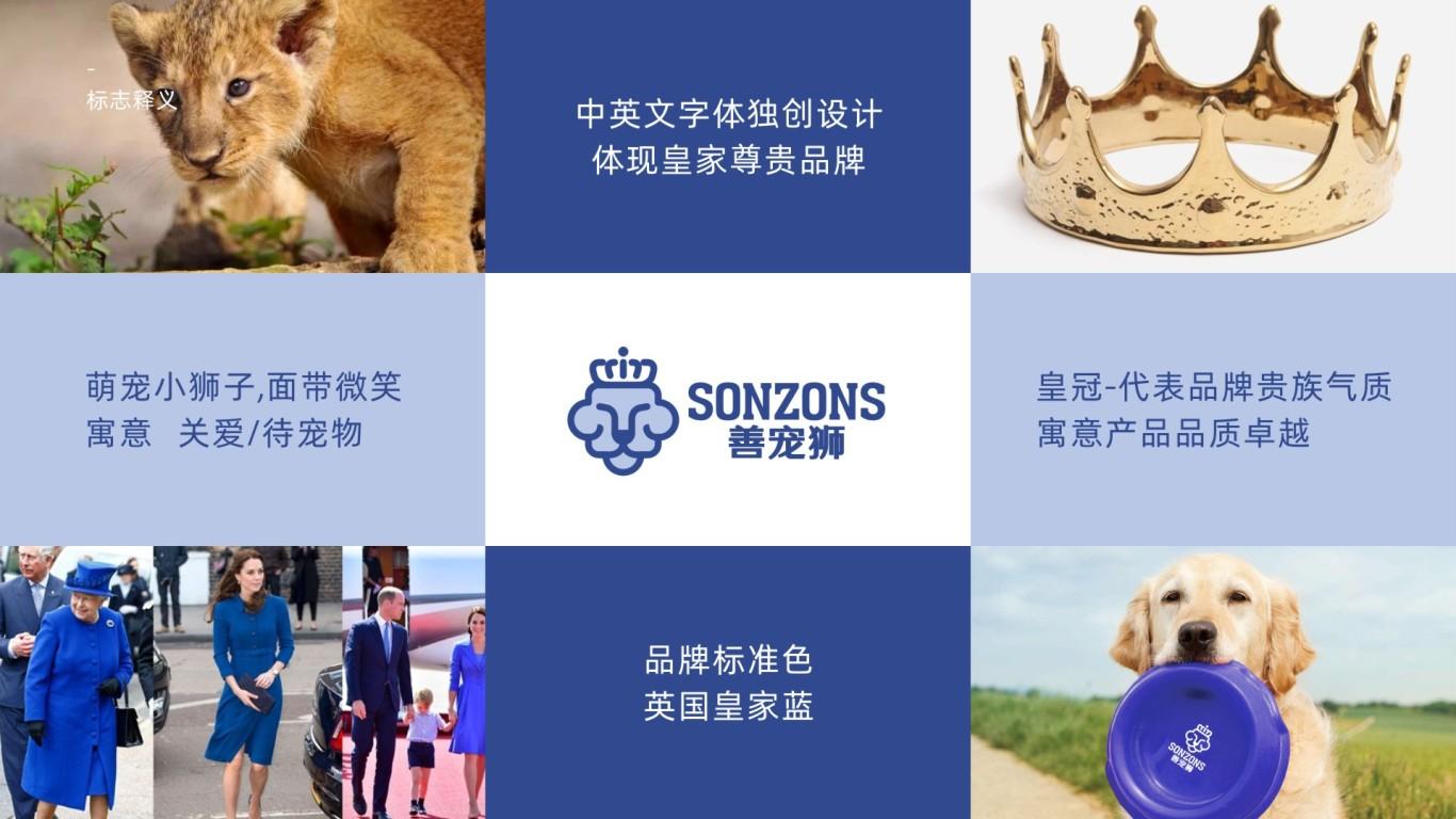 善寵獅寵物用具公司LOGO設計中標圖1