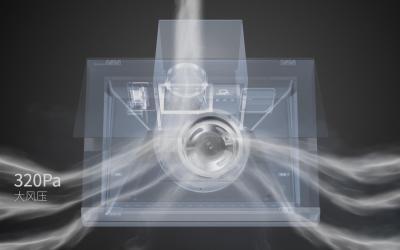 格兰仕智能洗吸油烟机3D动画