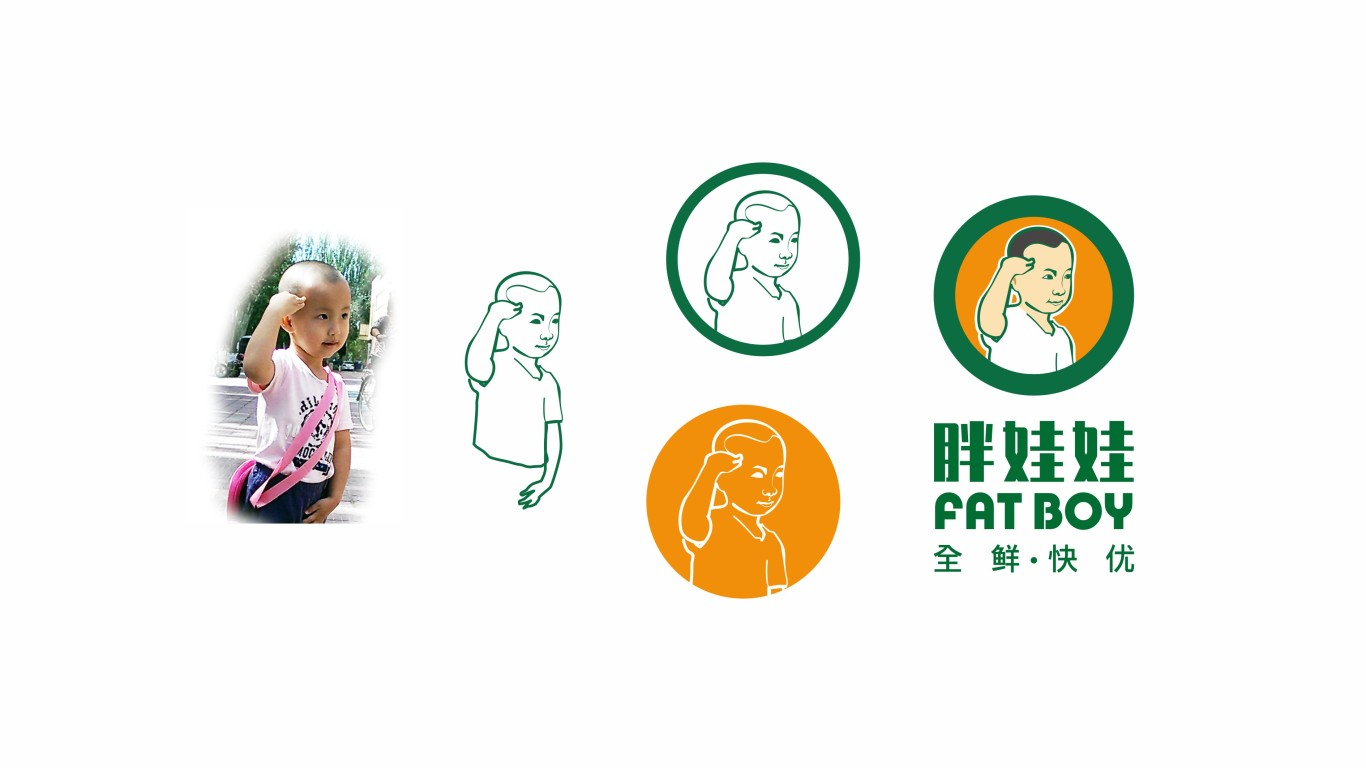 胖娃娃生鮮電商品牌LOGO設計中標圖7