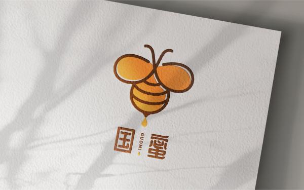 国蜜蜂蜜品牌LOGO设计