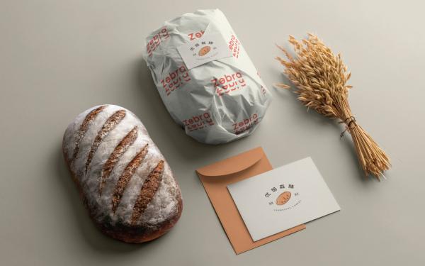优焙森林面包烘培品牌LOGO设计