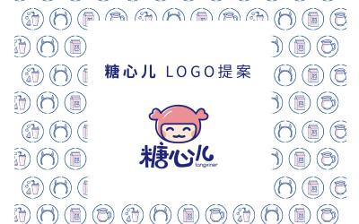 糖心儿饮品店logo设计