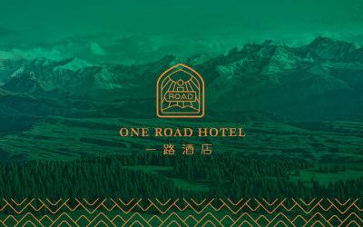 一路酒店logo設計