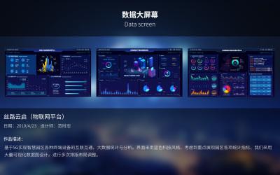 丝路云启物联网可视化数据大屏界...