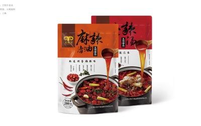 大牧漢食品  火鍋底料包裝設計