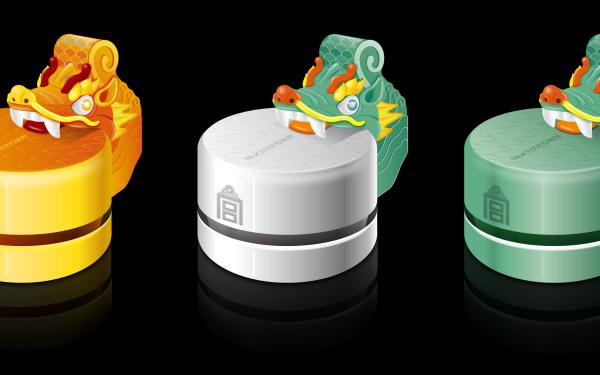 故宫吞脊兽桌面吸尘器产品设计