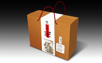 新泻大米礼盒包装设计