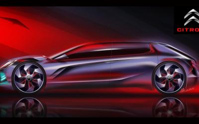 汽车造型手绘