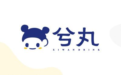 兮丸奶茶logo设计
