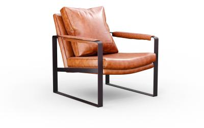 家具单人沙发产品建模效果图