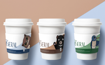 蜂鸟咖啡杯套设计