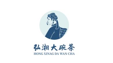 弘湘大碗茶品牌LOGO设计