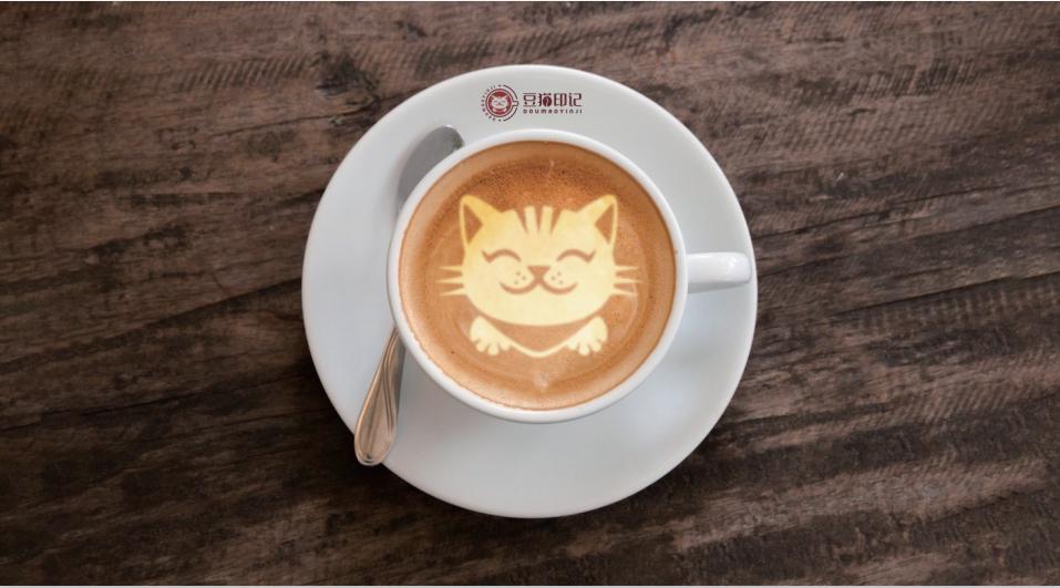 豆猫印记咖啡馆LOGO设计中标图1