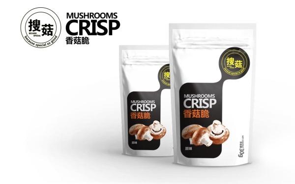 金珠满江农业有限公司 搜菇产品香菇脆包装设计