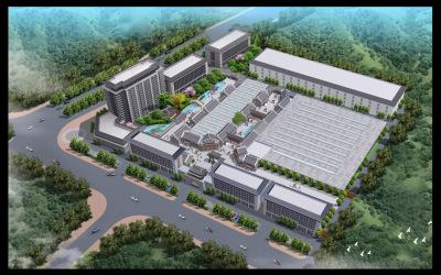 孔子酒业厂区规划设计鸟瞰图