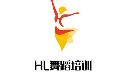 HL舞蹈培训机构LOGO设计
